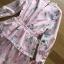 เดรสเกาหลี พร้อมส่ง เดรสผ้าชีฟอง สีขมพูพิมพ์ลายตกแต่งเลเยอร์ thumbnail 13