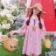 ชุดเดรสเกาหลี พร้อมส่ง เดรส ปักลายสับปะรด thumbnail 4