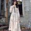 ชุดเดรสเกาหลี พร้อมส่ง Dress ยาว สีครีม thumbnail 4