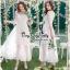 ชุดเดรสเกาหลี พร้อมส่ง เดรสผ้าลูกไม้สีขาวสไตล์เจ้าหญิง thumbnail 4