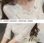 ชุดเดรสเกาหลี พร้อมส่ง Dress ลูกไม้ คอเหลี่ยม thumbnail 14
