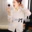 พร้อมส่ง เสื้อแฟชั่น เสื้อเกาหลี เชิ้ตขาวผ้าตาข่าย thumbnail 11