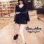 เดรสเกาหลี พร้อมส่ง MINI Dress คอวีแขนกระดิ่ง thumbnail 2