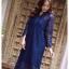 ชุดเดรสเกาหลี พร้อมส่ง Dress ลูกไม้ ลายทางฉลุ thumbnail 12