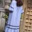 ชุดเดรสแฟชั่น พร้อมส่ง Dress ผ้าฝ้ายลายริ้ว thumbnail 13