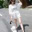 พร้อมส่ง เสื้อสายเดี่ยวสีขาว + เสื้อคลุมชีฟอง thumbnail 7