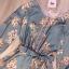 เสื้อผ้าเกาหลี พร้อมส่ง จั๊มสูทมีหูร้อยเชือกข้างเอว thumbnail 7