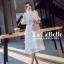 เดรสเกาหลี พร้อมส่ง ชุดเดรสเจ้าหญิงผ้าลูกไม้ปักสีขาว thumbnail 2