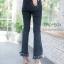 พร้อมส่ง กางเกงยีนส์ เอวสูง ขาม้าห้าส่วน thumbnail 8