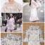 เดรสเกาหลี พร้อมส่ง เดรสผ้าตาข่ายปักลายดอกไม้ thumbnail 2