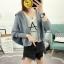 เสื้อเกาหลี พร้อมส่ง เสื้อคลุมไหมพรม thumbnail 4