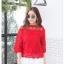 เสื้อเกาหลี พร้อมส่ง เสื้อลูกไม้ อิตาลี่ thumbnail 16