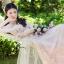พร้อมส่ง Long dress สีชมพูโอรส แขน 5 ส่วน thumbnail 2