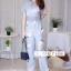 เสื้อผ้าเกาหลี พร้อมส่ง จั๊มสูทแต่งลายนก thumbnail 4