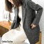 เสื้อเกาหลี พร้อมส่ง เบลเซอร์สูท สีดำ thumbnail 4