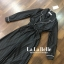 เสื้อผ้าเกาหลี พร้อมส่ง จั้มสูท กางเกงขาแปด ปกทรงสูท thumbnail 7