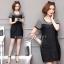 ชุดเดรสเกาหลี พร้อมส่ง dress ทรง a thumbnail 4