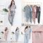 เสื้อผ้าเกาหลี พร้อมส่ง ชุดset เสื้อยืด+กางเกงขายาว thumbnail 8