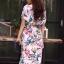 ชุดเดรสเกาหลี พร้อมส่ง Dress ปริ้นลายใบไม้ thumbnail 11