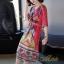 เดรสเกาหลี พร้อมส่ง Dress คอวี แขน 3 ส่วน thumbnail 3