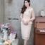 ชุดเดรสเกาหลี พร้อมส่ง Dress ผ้าไหมปักลูกไม้คอวี thumbnail 10