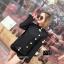 เสื้อเกาหลี พร้อมส่ง เสื้อคลุมแขนยาวเก๋ ๆ สีดำ thumbnail 4