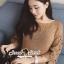 พร้อมส่ง เสื้อเกาหลี ทอลายดอกไม้ที่ช่วงแขน thumbnail 13
