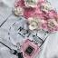 เสื้อเกาหลี พร้อมส่ง ทีเชิ้ตสีขาวปักดอกไม้ thumbnail 9