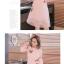 พร้อมส่ง เดรสสีชมพู คอจีน แขนยาวสี่ส่วน thumbnail 2