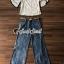 เสื้อผ้าเกาหลี พร้อมส่ง เสื้อทรงคอปาด กับกางเกงผ่าขา thumbnail 2