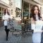 เดรสเกาหลี พร้อมส่ง เดรสสั้น คอเต่า ช่วงไหล่เว้า thumbnail 4
