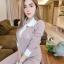 เสื้อผ้าเกาหลี พร้อมส่ง เสื้อ+กางเกงพิมพ์ลายคมชัด thumbnail 4