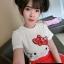 เสือผ้าเกาหลี พร้อมส่ง เสื้อกับกางเกงเอวสม็อค thumbnail 4