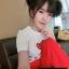 เสือผ้าเกาหลี พร้อมส่ง เสื้อกับกางเกงเอวสม็อค thumbnail 8
