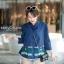 เสื้อเกาหลี คอปีนแขนสามส่วน พร้อมส่ง thumbnail 6