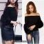 เสื้อเกาหลี พร้อมส่ง เสื้อ knit แขนเฟอร์ thumbnail 6
