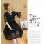 เดรสเกาหลีสีดำ พร้อมส่ง เดรสผ้าลูกไม้ลายเส้น thumbnail 7