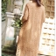 ชุดเดรสเกาหลี พร้อมส่ง Dress ลูกไม้ ลายทางฉลุ thumbnail 2