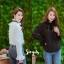 เสื้อเกาหลี พร้อมส่ง เสื้อคอระบายพลีท โบดำ thumbnail 16