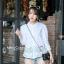 เสื้อเกาหลี คอปีนแขนสามส่วน พร้อมส่ง thumbnail 2