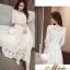 ชุดเดรสเกาหลี พร้อมส่ง Dress ลูกไม้ คอเหลี่ยม thumbnail 16