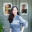 ชุดเดรสเกาหลี พร้อมส่ง เดรสยาว ผ่าข้าง thumbnail 4