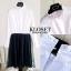 เสื้อผ้าเกาหลี Set 2 ชิ้น เดรสแขนยาว คอปีน thumbnail 11