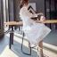 เดรสเกาหลี พร้อมส่ง ชุดเดรสเจ้าหญิงผ้าลูกไม้ปักสีขาว thumbnail 5