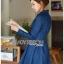 ชุดเดรสเกาหลี พร้อมส่ง เชิ้ตเดรส ผ้าเดนิมสีน้ำเงิน thumbnail 2