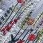 พร้อมส่ง เดรสลายทางสีฟ้าขาวปักลายดอกไม้ thumbnail 9
