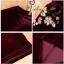 เสื้อผ้าเกาหลี พร้อมส่ง เสื้อ+กางเกง กำมะหยี่ thumbnail 18
