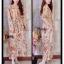 ชุดเดรสเกาหลี พร้อมส่ง maxi dress คอวีเปิด thumbnail 3
