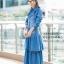 ชุดเดรสเกาหลี พร้อมส่ง Maxi Dress ยีนส์ระบาย thumbnail 8