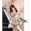 เดรสเกาหลี พร้อมส่ง เดรส ผ้าเครปสีขาวครีม thumbnail 4